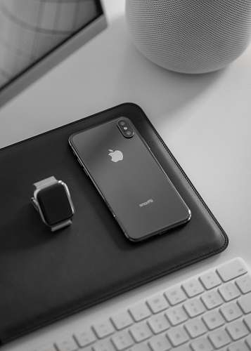 computer space gray iPhone X computer hardware