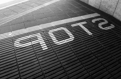grey Stop signage brick