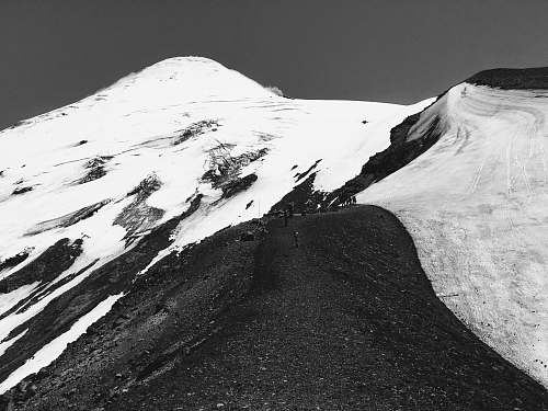 nature white and black mountain painting mountain