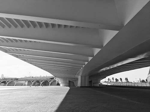 architecture white concrete bridge building