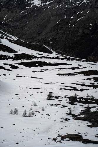 mountain white snow nature