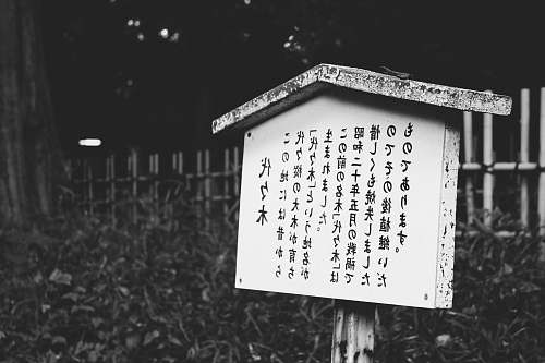 text whute wooden signage tokyo