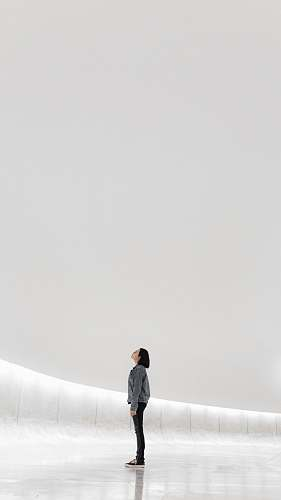 human woman standing on ice person