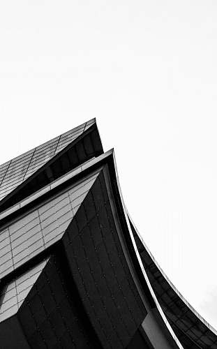 building worms eye view of black building architecture
