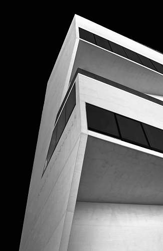 architecture worm's eye view of white concrete building building