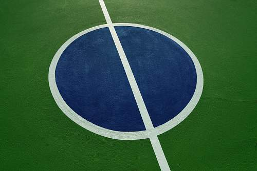 tennis round blue, white, and green illustration game