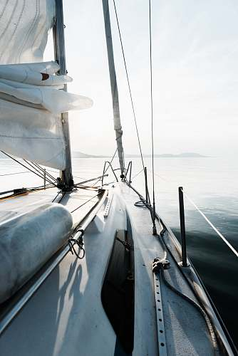 luxury cabin cruiser at the sea during day sailing
