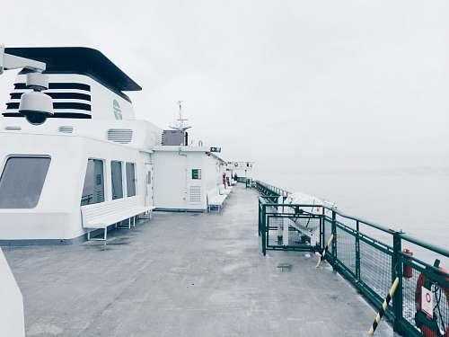deck white cruiser ship shopping cart