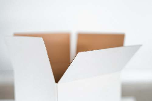 file binder closeup photo of white box white