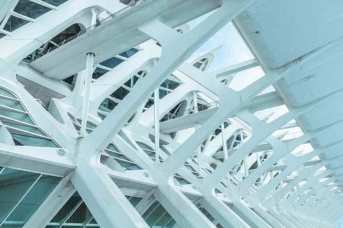 architecture architectural photo of white metal beams spain