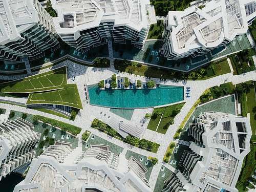 architecture areal photography of high-rise buildings city