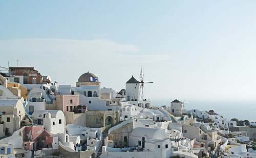 architecture concrete buildings at Santorini, Greece during daytime greece
