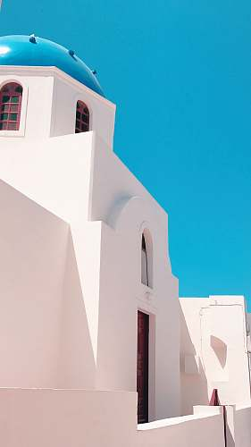 architecture white painted wall santorini