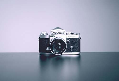 electronics gray and black Miranda DSLR camera vintage