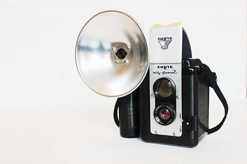electronics vintage black and white camera digital camera