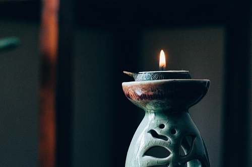 spiritual rule of thirds photography of lit candle flame