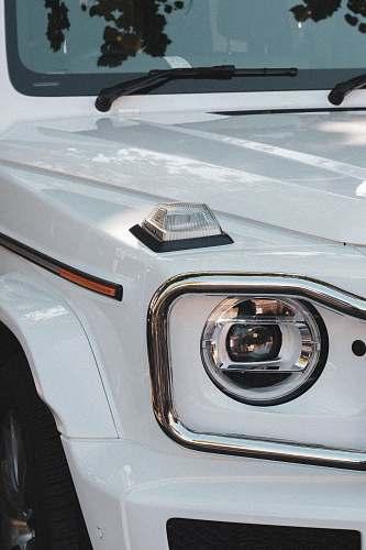 automobile white vehicle headlight transportation