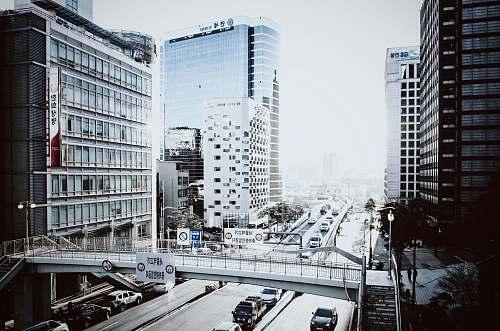 bridge Traffic in the streets of Seoul, South Korea seoul