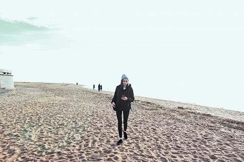 apparel woman walking on shore shoe