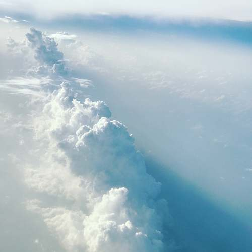 sky aerial photography of clouds nature