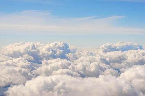 sky nimbus clouds and blue calm sky weather