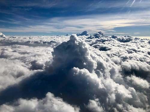 sky sea of clouds nature