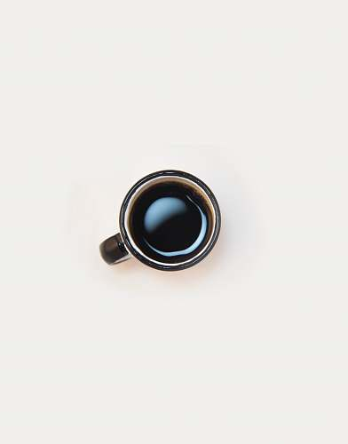 cup top view of white ceramic coffee mug drink