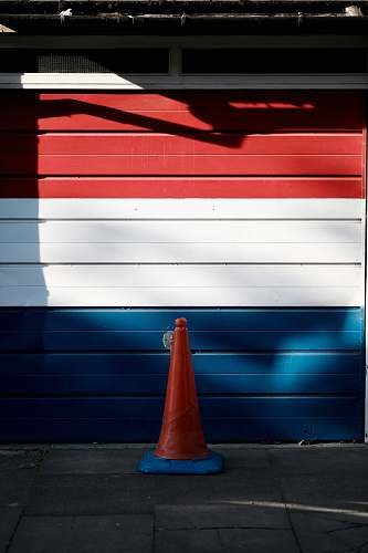 photo cambridge red, white , and blue wooden garage door red free for commercial use images