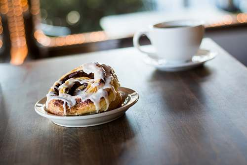 food pastry bread with white syrup kaffee meister - santee coffeehouse