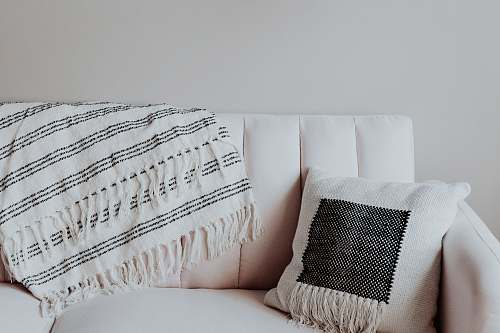 interior white and black throw pillow home