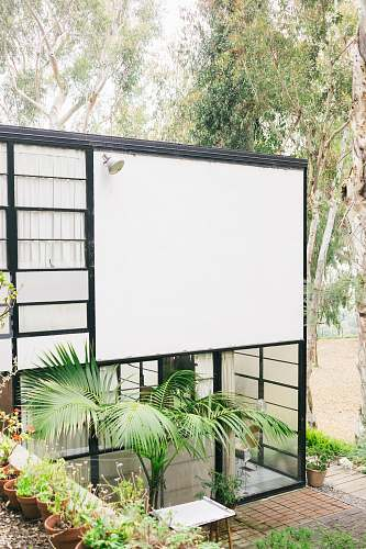 electronics white and black house near trees at daytime screen