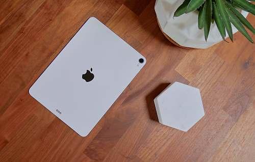 wood white iPad phone