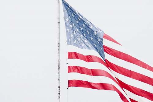 emblem flag of USA on pole united state