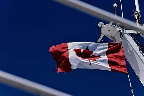 canada rise Canada flag sky