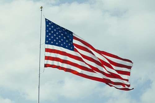 emblem U.S.A. flag with pole united states