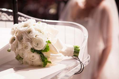 rose white bouquet of flowers wedding
