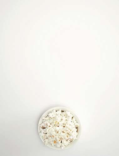 plant pop corn in bowl popcorn