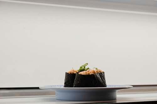 sushi sushi served on white ceramic saucer taiwan