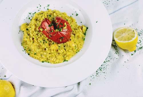 lemon white ceramic plate bowl