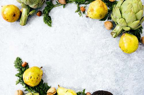 food yellow fruits on ice vegetable