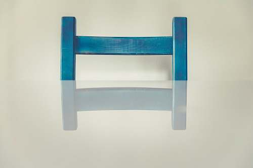 chair blue and white wooden frame erlangen