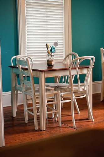 chair dining table beside window table