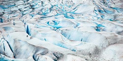 ice white and teal Glacier snow