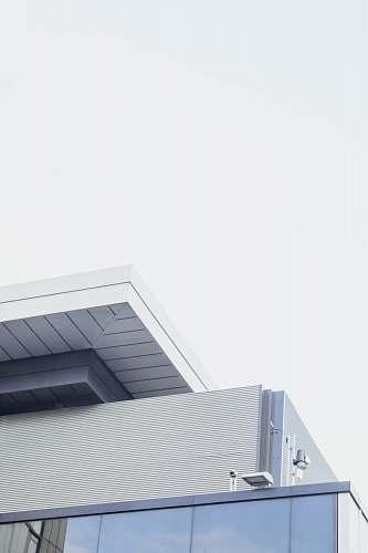 architecture white and gray concrete house gray