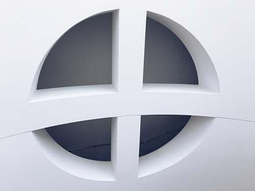 logo white concrete cross wall structure trademark
