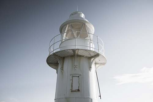 photo beacon white metal watch tower lighthouse free for commercial use images