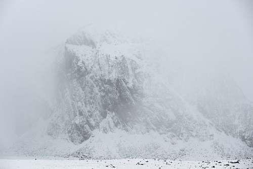 nature white seawaves mountain
