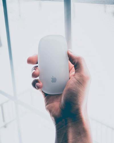 person person holding Apple Magic mouse people