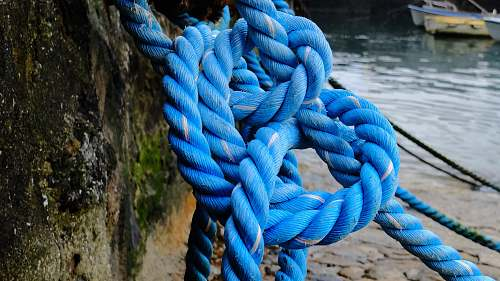 rope blue rope knot human