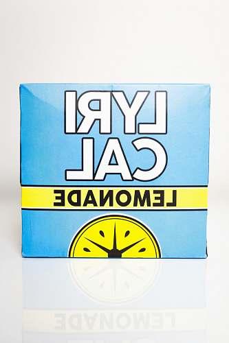 text blue and yellow Lyrical lemonade box box
